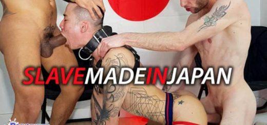 Yoshi - Japanese porn star destroyed by 2 huge raw dicks