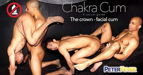 When sexy Asian yoga master Levy Foxx gets a peek at the giant hardon bulging in student Zario Travezz's workout pants, his comments on the important purple chakra (ruling the crown of the head) goes by the wayside.